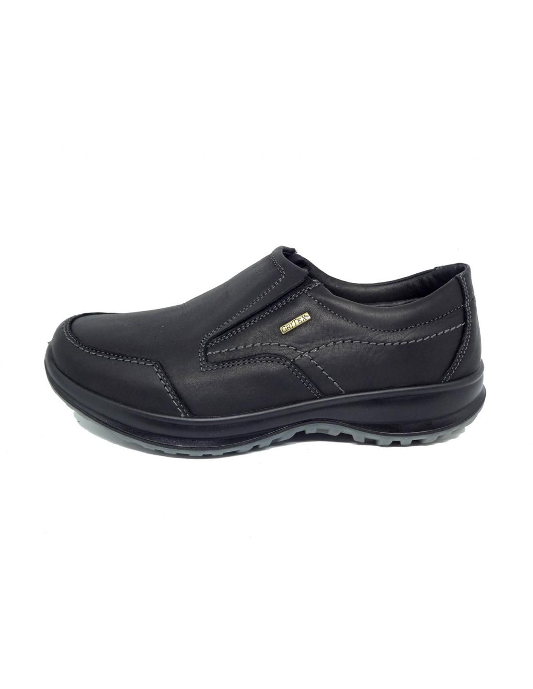 BO.RA  scarpa da uomo invernali in pelle con elastici di Grisport 022e9739c97